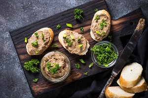 Pate from beef liver.