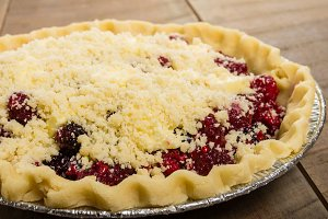 Crumb top fruit pie