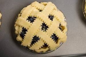 Lattice top fruit pie