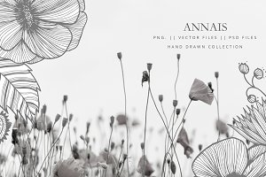 Clipart vector flowers -ANNAIS