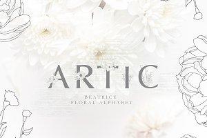 Floral alphabet - BEATRICE