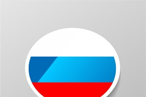 Speech bubble with Russia flag