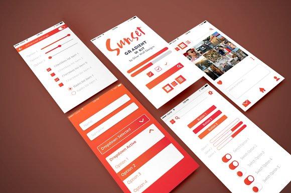 Gradient Design Sunset UI Kit