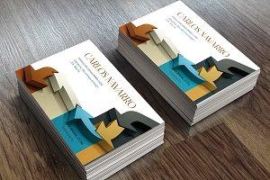 Business card-Arrows 3D
