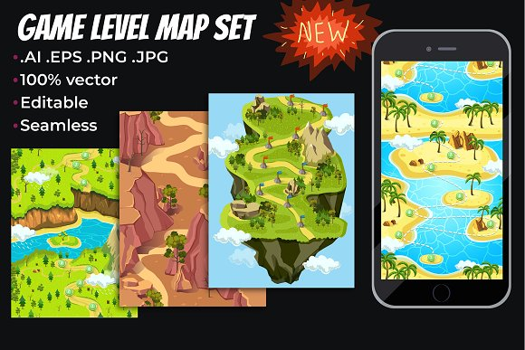 Game Level Map Concept Set II