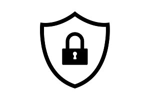 Shield security icon. vector