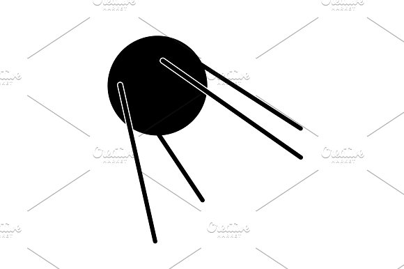 Satellite Sign Icon Vector