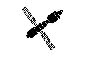 Satellite sign icon, vector