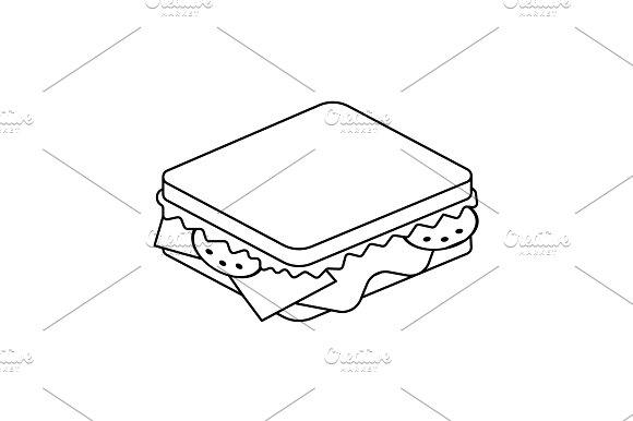 Sandwich Line Icon Vector