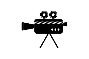 Cinema camera icon. vector