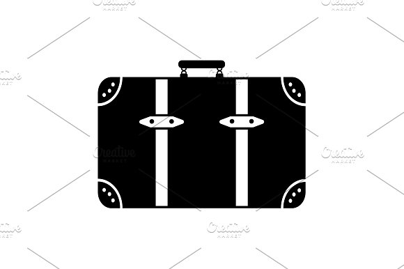 Baggage Icon Vector Illustration