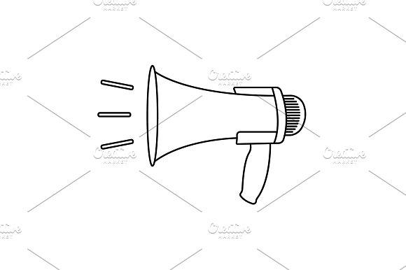 Megaphone Loudspeaker Line Icon