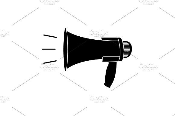 Megaphone Loudspeaker Icon Black