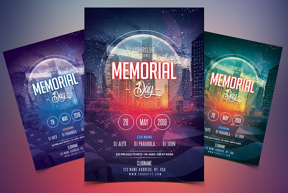 memorial day psd flyer template flyer templates creative market