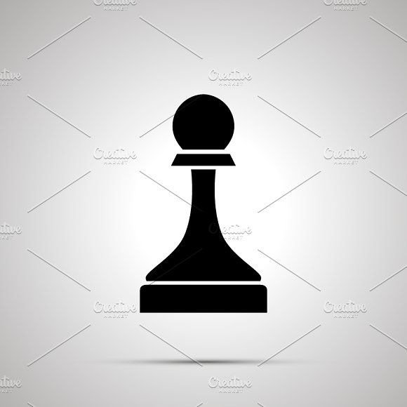 Simple Black Chess Pawn Icon