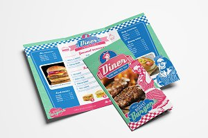 American Diner Menu Templates Pack Brochure Templates Creative - Folded menu template