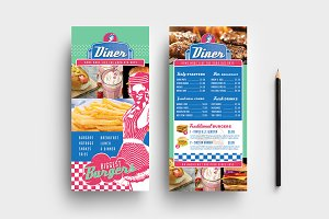 American Diner DL Card Template