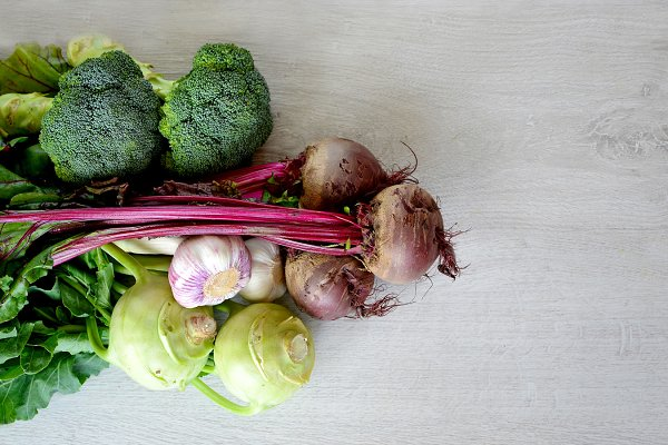 Vegetables copy space background