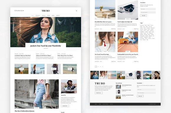 Truro Bold WP Blogging Theme