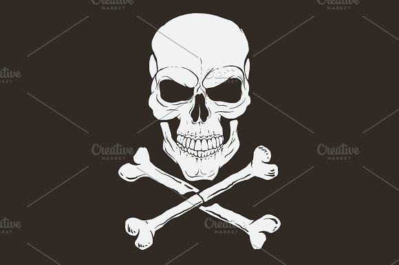 Pirate Logo With Skull And Bones