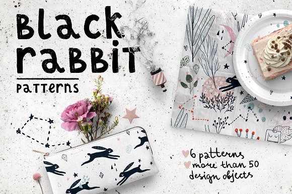 Black Rabbit Patterns