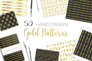 Golden Hand Drawn Patterns