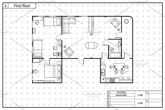 Black Architecture Flat Plan