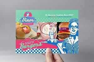 American Diner Flyer Template