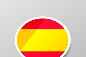 Speech bubble shape with Spain flag