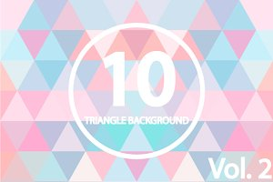 10 Triangle backgrounds. Vol 2