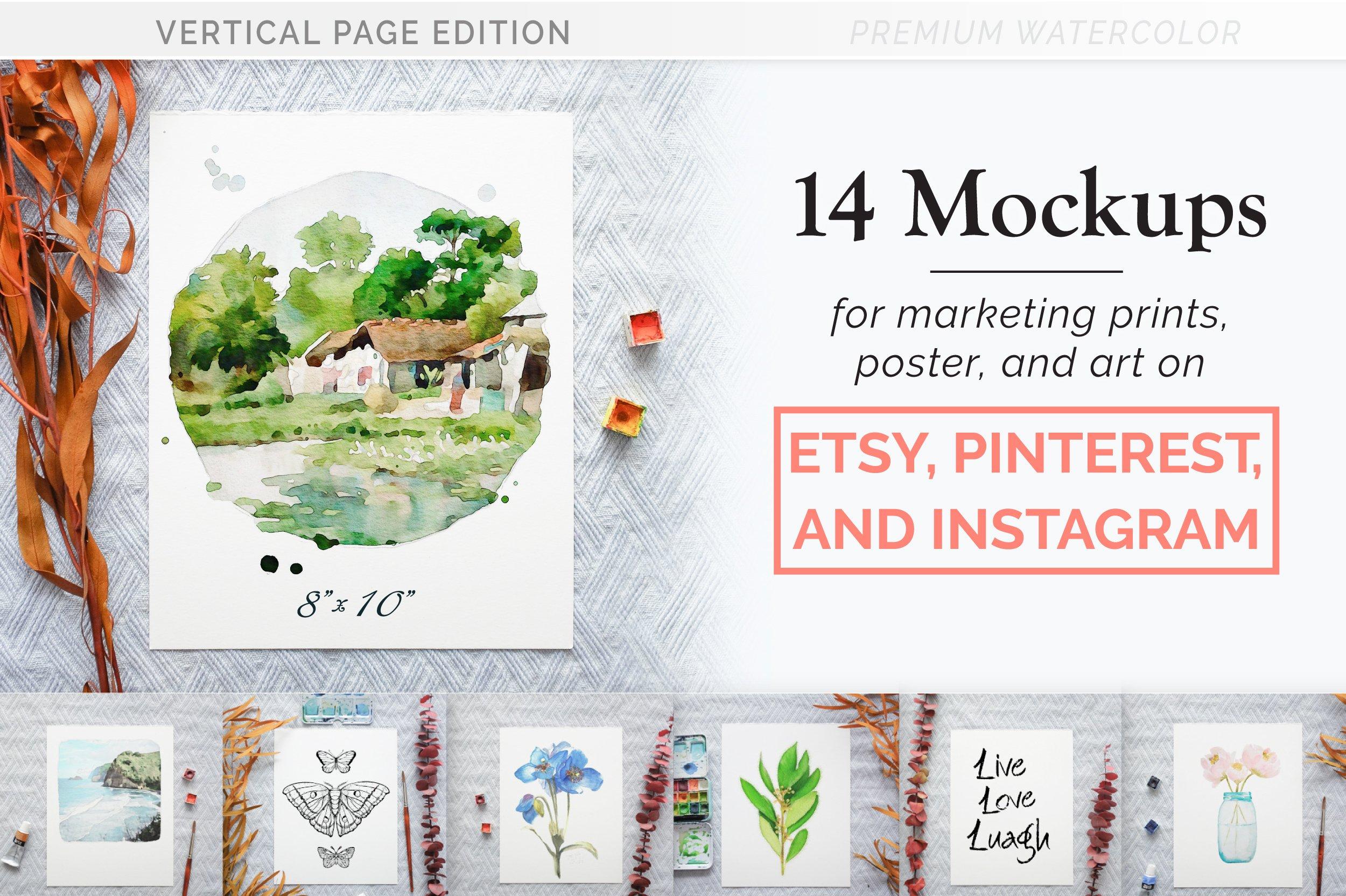 Download Premium Art Print Mockups for Etsy   Creative Print ... Free Mockups