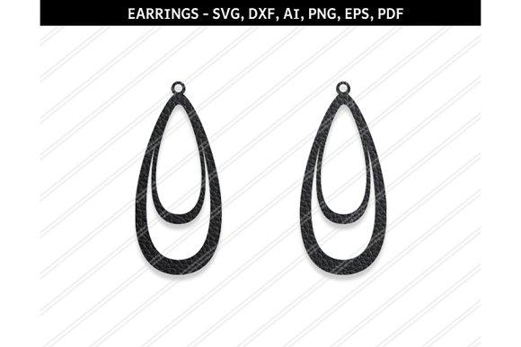 Teardrop Earrings Svg Dxf Ai Eps Png