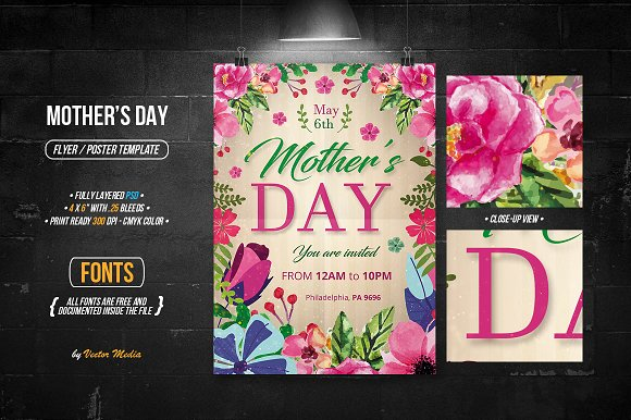 Mother's Day Flyer Poster