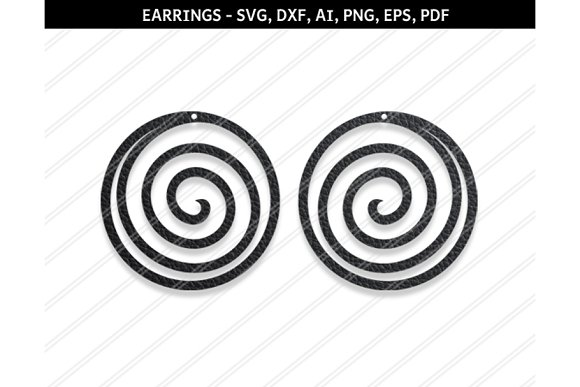 Spiral Earrings Svg Dxf Ai Eps Png