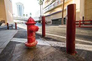 Red classic USA fire hydrant