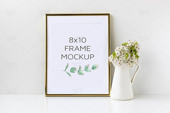 Gold Frame Mockup 8x10