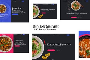 Bin Restaurant PSD Templates