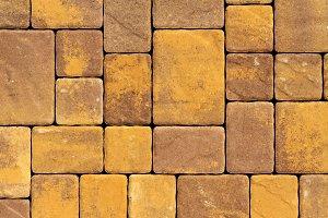 antique paving tiles of square shape