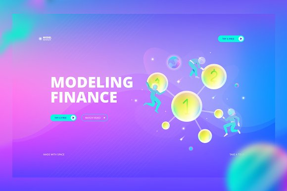 Modeling Finance Web Banner