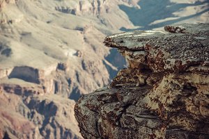 mountain edge cliff in Grand Canyon