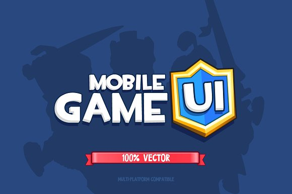 Mobile Game Ui 100% Vector