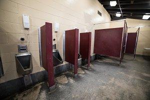 Regular public restroom for men