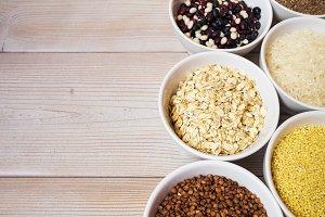 Ceramic jars with grains