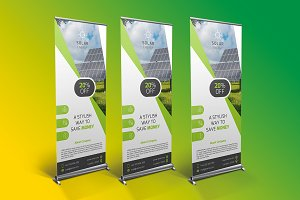 Solar Energy Roll Up Banner