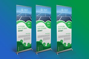 Solar Energy Roll Up Banner