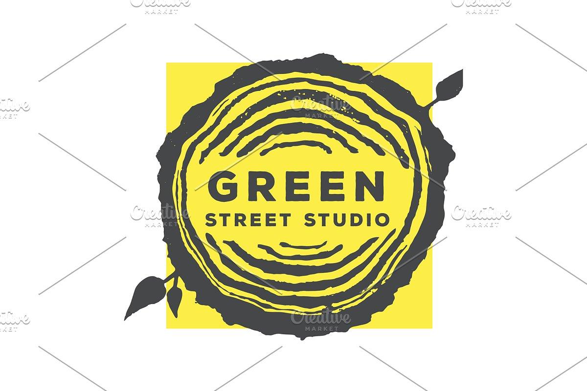 Tree Rings Organic Logo Template 1 Creative Logo Templates
