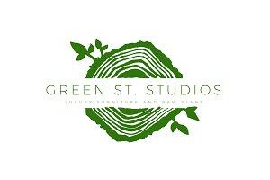 Tree Rings / Organic Logo Template 2