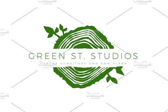 Tree Rings Organic Logo Template 2