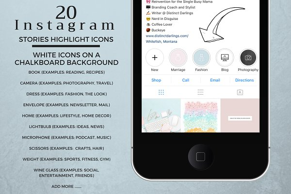 20 Instagram Story Highlight Icons
