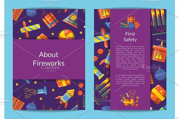 Vector Cartoon Pyrotechnics Card Flyer